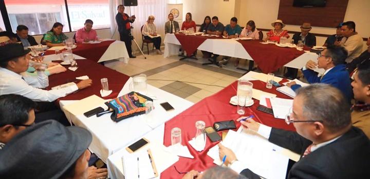Reunión entre la Coordinadora Nacional de los Pueblos Indígenas e Instituciones Públicas (1)